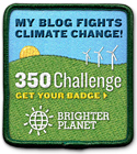 Brighter Planet 350 Bloggers Challange